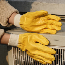 NMSAFETY glove safety yellow nitrile protective glove