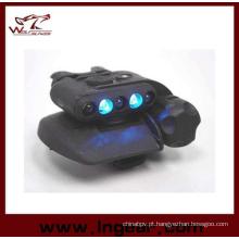 Airsoft segurança capacete capacete de LED luz luz LED azuis 3 intensidades