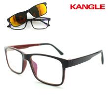 2017 eyeglass frames in stock wholesale Polarized lens sunglasses clip ons eyeglasses