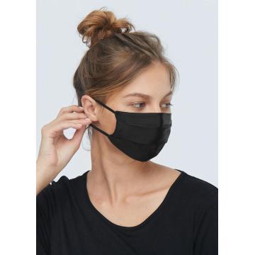 Masque confortable en gaze de soie pure réutilisable, confortable et respirant | Boucles d'oreilles réglables Fil de nez réglable à 2 couches