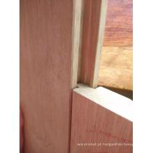 Revestimento de madeira maciça de Balsamo da cor da natureza do fechamento
