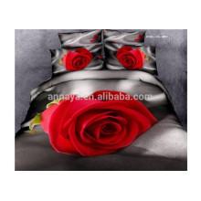 Bedclothes 3D Made in China com 4pcs capa de edredão lençol de cama