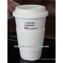 ceramic mug silicone sleeve/ceramic travel mug/promotional mug