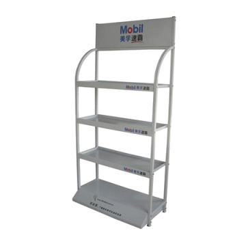 4 abgestuftes Metall Schmieröl Display Rack
