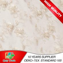 Stickerei Stoff für Hochzeitskleid, Bankett, handgefertigte Perle