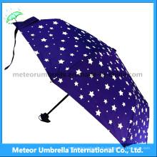 Blue Star Sky Umbrella / Gift 3 Folds Discount Umbrella