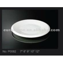 Cerámica plato pequeño plato y plato para el hotel, el restaurante y el uso diario P0082
