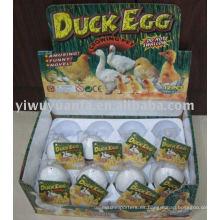 Juguete de huevo de pato y pollo creciente