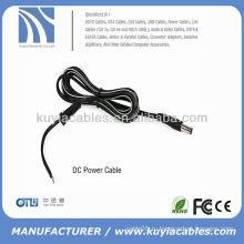 Черный медный кабель питания постоянного тока (1,5 м, с разъемом 2.1 / 5.5)