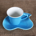 3OZ Blue Sweet love taza y platillo