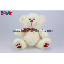 "Bobo′s 7.5"" Beige Soft Toy Cute Teddy Bear with Printing Heart Ribbon Bos1108"