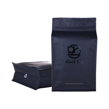 Recycle Materials Flat Bottom Ziplock Pouch Coffee Bag