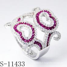 2015 bijoux les plus récents décorés avec bague populaire de pierres colorées (S-11433)
