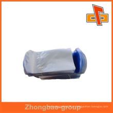 Alta qualidade personalizado design filme azul PVC encolher saco para cosméticos