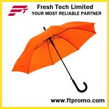 Автоматический открытый 23 дюймовый зонтик с трафаретной печатью