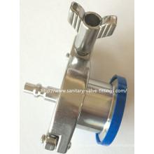Válvula de retención de soplado de aire de acero inoxidable sanitario conector de conexión rápida