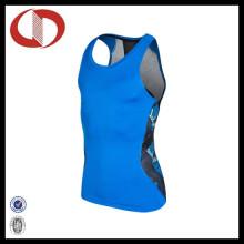 Custom Made Dry Fit Imported Vestuário de Desporto Running Vest