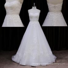 Выход Фабрики Облегающее Свадебное Платье Развертки Поезд Кружева 2014