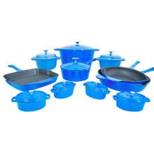 Colored Enamel Cast Iron Cookware Set