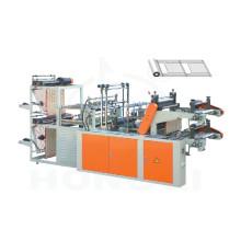 Machine de fabrication de sac à rouleaux à deux couches