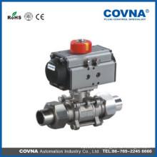 Válvula de bola de segmento   Actuador Neumático   Válvula de bola   Válvula de bola de actuador neumático de doble acción (2 vías)