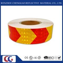 Fita de segurança reflexiva de seta vermelha e amarela (C3500-AW)