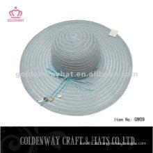 Stilvolle Dame billig Polyester Hüte schöne Polyester Sommer Strand Sonnenblende Hut