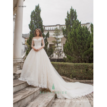 Vintage bride dresses white wedding long sleeve wedding gown vestidos de novia baratos fabricados en china