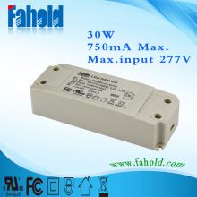 UL driver 30W 750ma 40v led panel light
