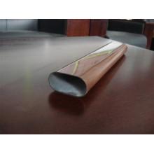 Wood Grain Finished Steel Tube for Balcony Railing /Fence