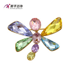 Xuping Fashion Fancy Rhodium - Cristales plastificados de Swarovski Broche de joyería Dragonfly Animal - Broche de joyería en forma - X0421005
