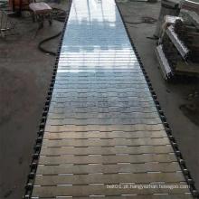 Correia de corrente de placa de metal para transporte de cargas pesadas