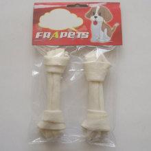 """Dog Food 5""""-5.5""""White Bleached Knot Bone Dog Chew"""