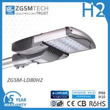 80W LED luz de calle para estacionamiento Bronce plata negro