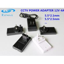 Adaptador de parede universal 12V 4A adaptador de alimentação da fonte de alimentação cctv