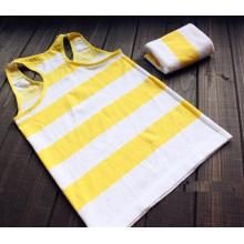 Ladies Nylon Knitted Seamless Strip Vest