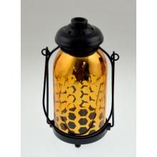 2015 New Design Electroplated Golden Lantern for Christmas