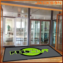 New Design Polyester Logo Rubber Door Mat