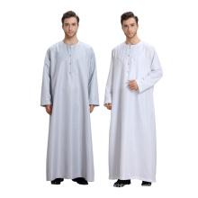 Hot selling abaya models dubai pure color long sleeves muslim men abaya dress