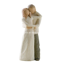 New Arrival Wholesale Resin Sculpture Wedding Cake Topper Willow Tree Together Cake Topper