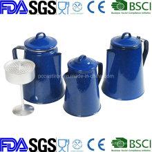 Customized Enamel Coffee Kettle with Mugs Cups Dinnerware, Tableware, Enamelware