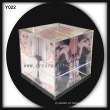 Molduras para fotos cubo 3D cor cristal