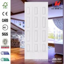 JHK-013 Hot Sell Design Of MDF White Primer avec une bonne qualité et un panneau de porte de prix compétitif