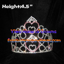 4.5inch Heart Crystal Pageant Crowns
