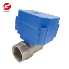 Motorized water control gas automatic shut off valve