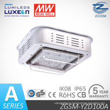 Philips Chips 100W IP65 Explosion Proof LED Canopy Light for Gas Station