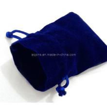 Bolsa de embalaje de terciopelo azul sin logotipo