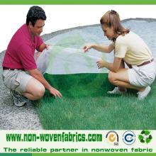 Tecido não tecido para controle de ervas daninhas na agricultura