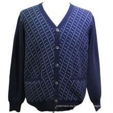 Suéter de punto para hombre de alta calidad, suéter hecho punto encogimiento de los hombres, los últimos diseños de suéter para hombres