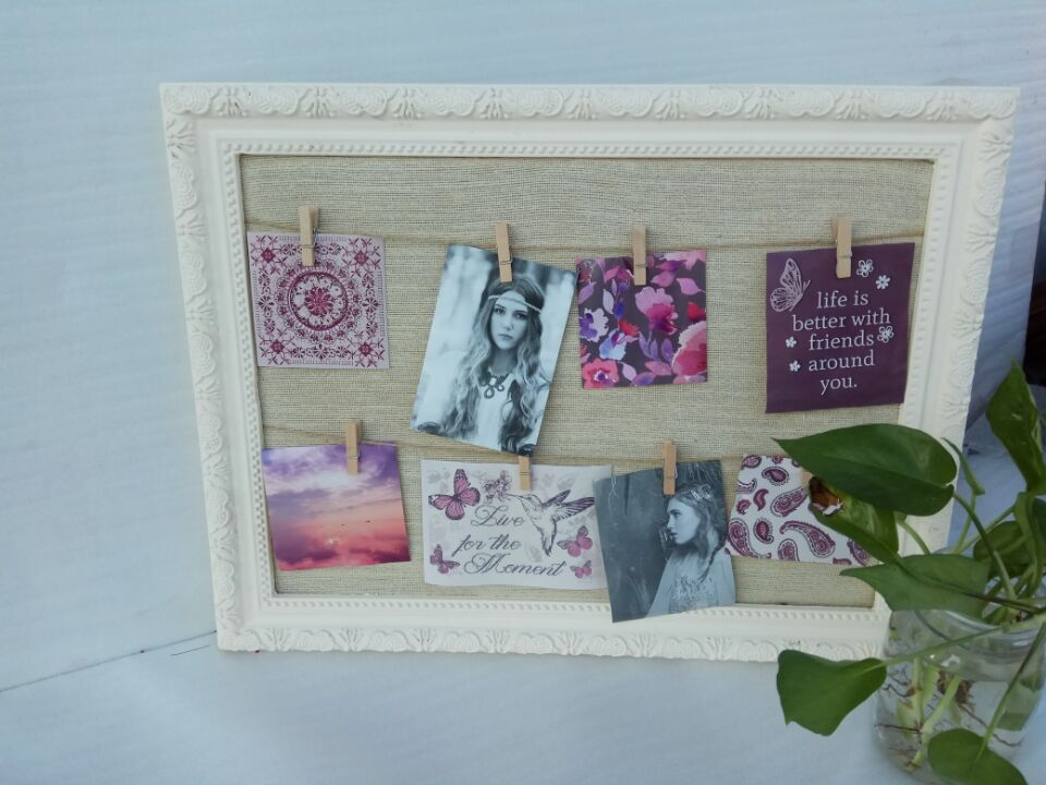 wooden frame with clip
